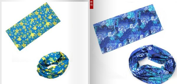 Bandanas Headwear Magic Seamless Multi Functional Kerchief Outdoor Head scarf cycling hip-hop ultraviolet-proof absorbent 50 * 24 cm 50pcs