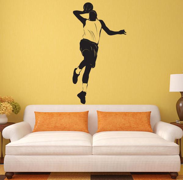 Basketball Player Wall Art Mural Decor Sport Boys Home Decoration Wallpaper Decor Sticker Wall Art Applique Poster