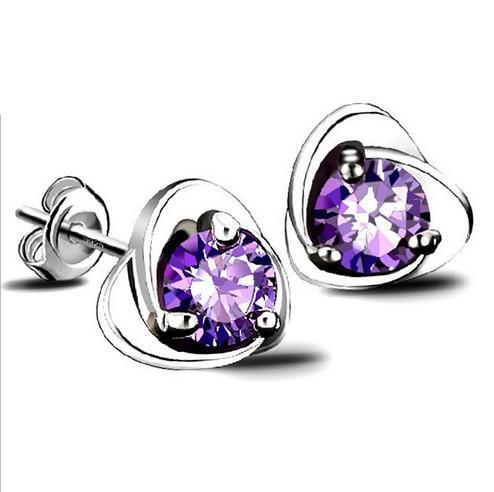 15pcs Earring Stud Ear Nail Steel Simple Silver Plated Design Huggie Crystal Earrings Accessories Set for Women Pierced Ears New Jewelry