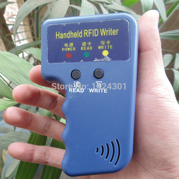 Handheld ID Cards 125KHz RFID Copier Reader Writer Duplicator + 5 x T5577 Keyfobs And 5 x EM4305 keyfobs