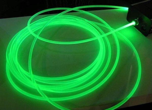 Atacado-50m super brilhante side-glow plástico PMMA POF cabo de fibra óptica strand interior 3mm Spool