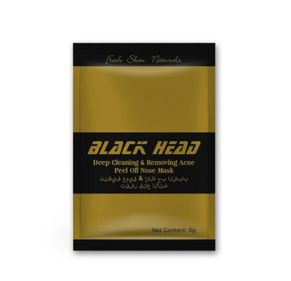 500Pcs New Gold Facial Minerals Conk Nose Blackhead Deep cleaning Removing Acne Peel Off Nose mask Black Head EX Pore Strip English packing