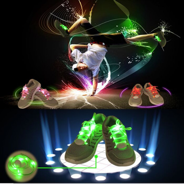 LED Shoe Flashing shoelace light up Disco Party Fun Glow Laces Shoes Halloween Christmas gift Free DHL FedEx