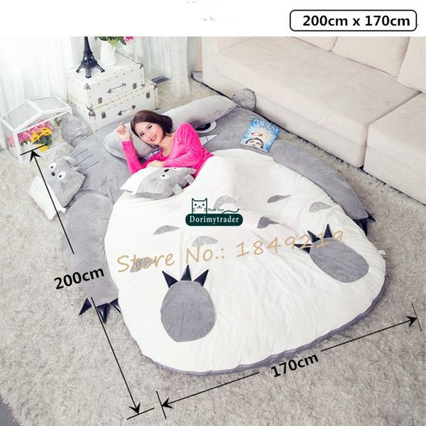 Pleasing 2019 Dorimytrader Pop Anime Totoro Plush Beanbag Soft Sleeping Bag Bed Sofa Tatami Sofa 5 Sizes Kids And Adults Gift Decoration Dy61809 From Inzonedesignstudio Interior Chair Design Inzonedesignstudiocom