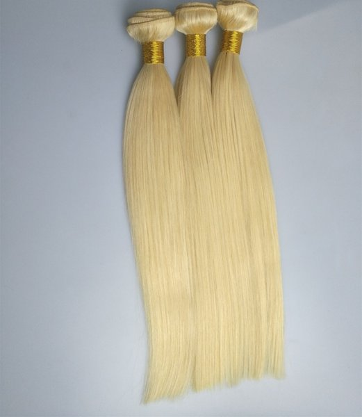 Straight Or Body Wave Human Hair Weaves Beach Bonde Color 613# Remy Hair Weft 300g, free shipping