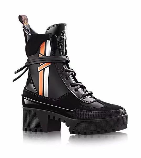En De De Combat De La Hiver Désert Chaussures Forme Acheter Pour Bottes Du Bottes Militaire Mode Épais Plate Femme Talon Cuir Femmes Haute Automne De EDIWH9Y2