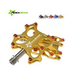 2014 New RockBros Road Bike MTB BMX Platform Flat Pedals CNC Titanium Spindle Ti Axle 5 Colors