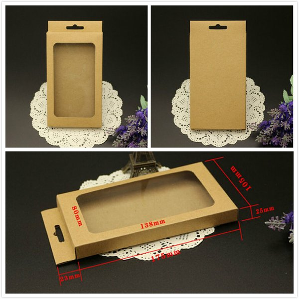 phone case packaging paper box mobile packaging brown kraft paper box for iphone 6 plus 6s retail box for s3 s4 leather case