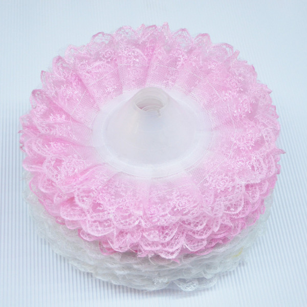 20pcs/lot Double Lace Purfle Wedding Bridal Bouquet Holder Thalamous Party Ornament Flower Receptacles Torus wa126