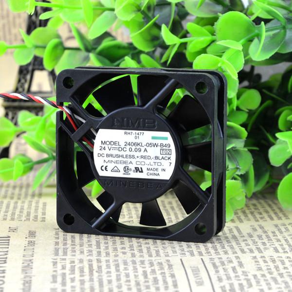 Ücretsiz Kargo NMB 2406KL-05W-B49 6015 60mm DC 24 V 0.09A 6 CM cm alarm inverter fan