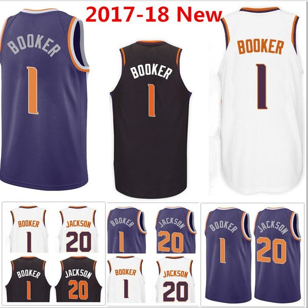 super popular cbca8 2295c 2017 2017 18 New Men'S 1 Devin Booker 20 Josh Jackson Purple Black Jersey  Swingman Wholesale 100% Stitched Jerseys From Jerseys_shop878, $13.07   ...