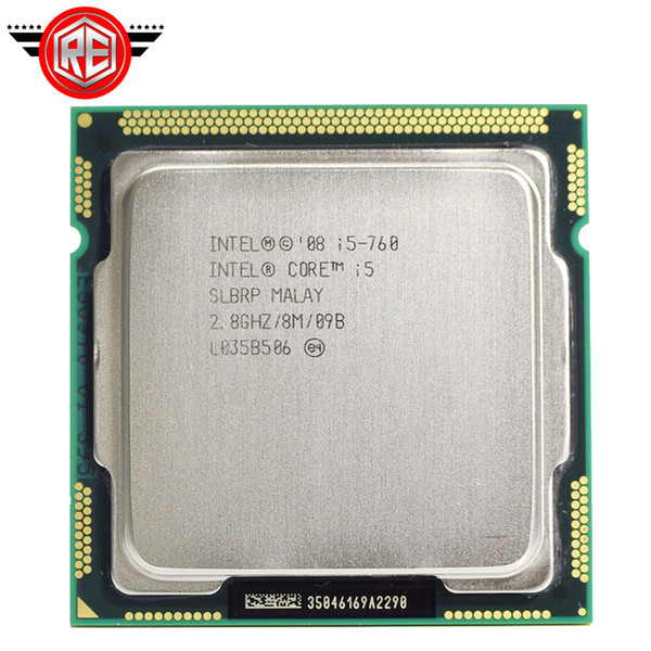 Original Intel Core i5 760 Prozessor 2,8 GHz 8MB Cache Sockel LGA1156 45nm Desktop CPU