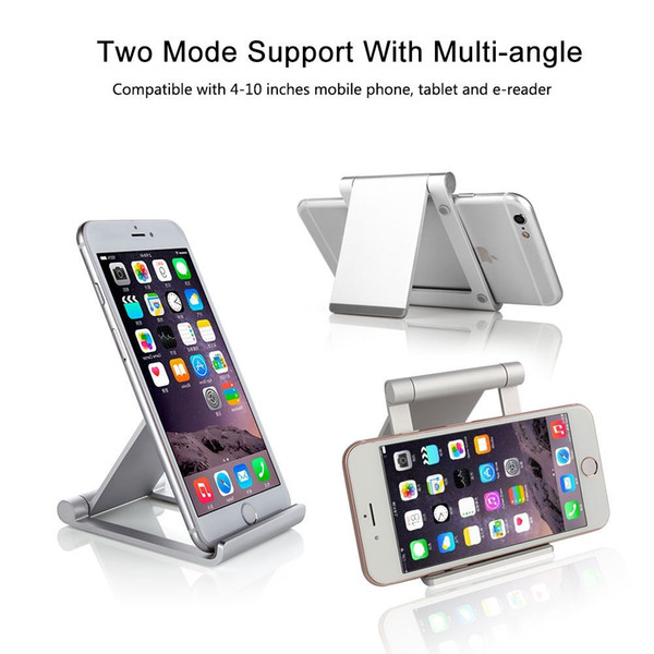 CAC029- 50x Multi-Angle Phone Tablet Stand Holder Foldable Aluminum Mobile Phone Stand Desktop Mount for iPhone iPad Samsung Smartphones