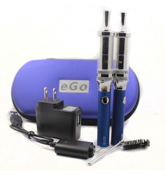 EVOD Cloutank M4 Vaporizador Kit Duplo Presas De Vidro Cloutank M4 Para Wax Dry Herb Atomizador Capacidade 650/900/1100 mAh EVOD Bateria CA0584 Colorido