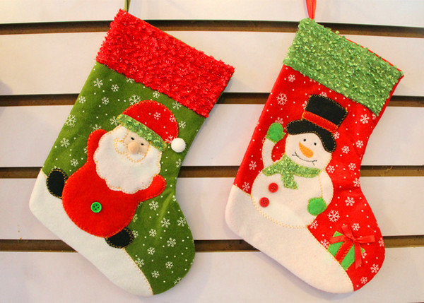 wholesale 12pcslot christmas stocking 26cm santa claus sock ornament random supplies christmas decoration gift - Cool Christmas Decorations