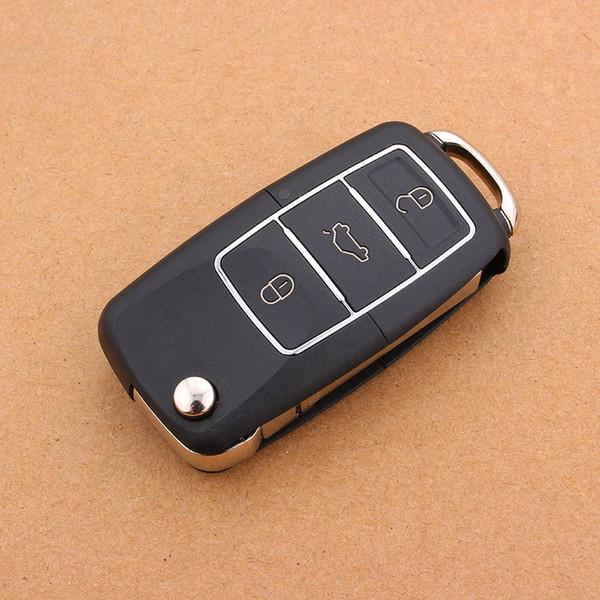 3 Buttons Flip Folding Car Key Shell Replacement Car Key Case Cover for VW Volkswagen Jetta Golf Passat Beetle Polo Bora