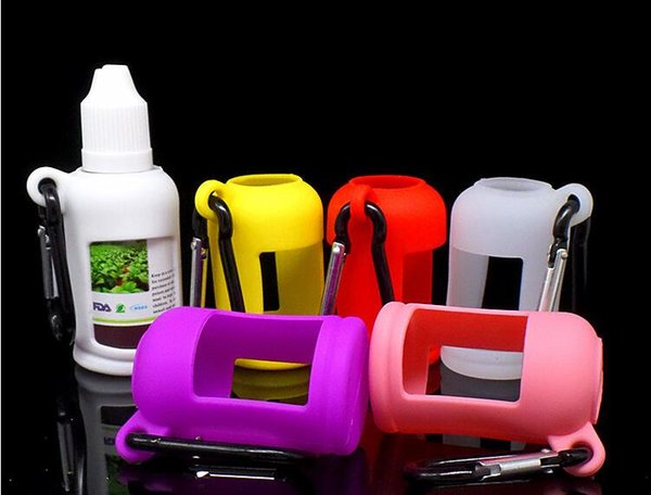 Портативный переноски силиконовый чехол для электронной жидкости бутылки мягкий чехол коробка Protectiv витрина Fit E сок бутылка 30 мл кремния резиновый рукав DHL