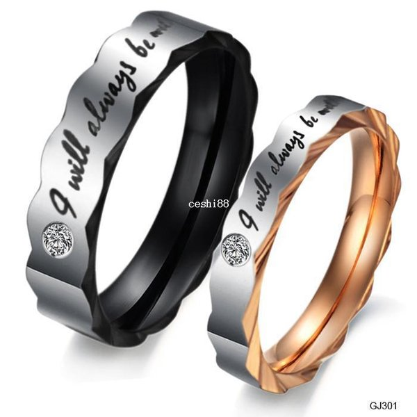 Shiny Punk New Titanium Steel ring WEDDING BAND RING Stainless Steel Couple ring Hot Fashion 301