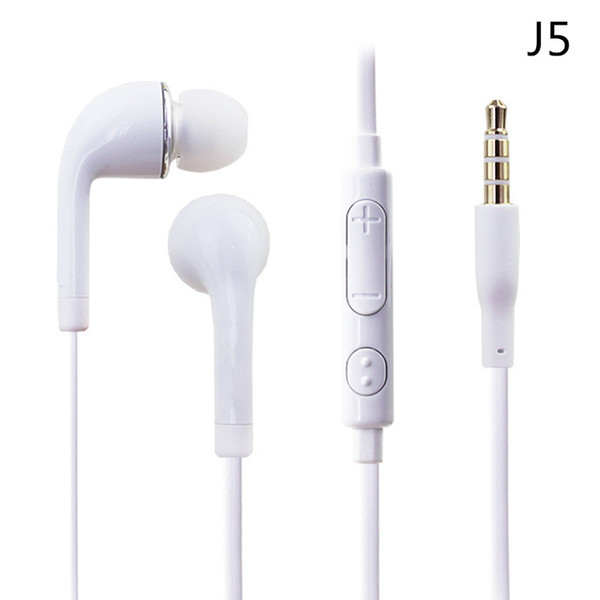 top popular Flat colorful In-Ear Earphone Headphone 3.5mm with Volume control and MIC Headset Earbuds For Samsung Galaxy S4 S5 I9600 Note 2 Note 3 N9000 2021