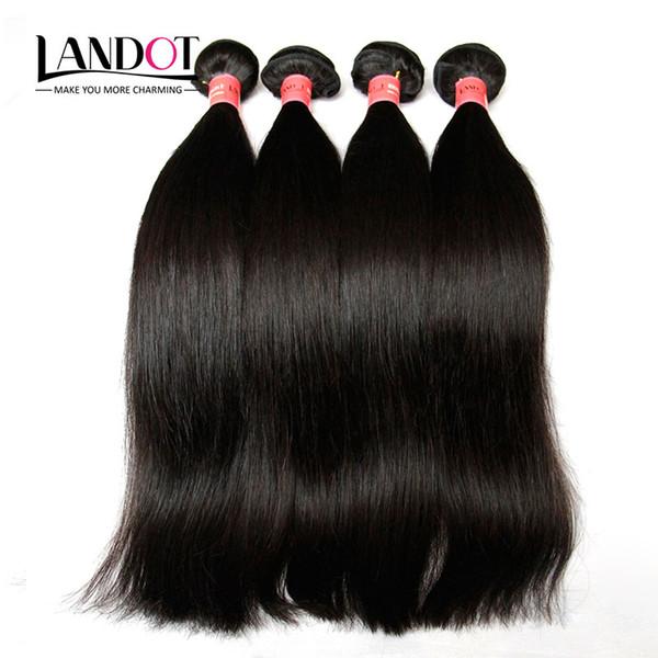8A Best Quality Brazilian Human Hair Weaves Extensions Unprocessed Peruvian Malaysian Indian Cambodian Mongolian Straight Hair 3 Bundles Lot