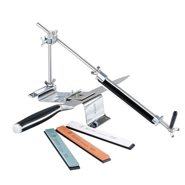 New Fashion Update Ferro acciaio per affilare i coltelli da cucina professionale per affilare i coltelli Affilatura Fix angolo fisso con pietre Utensili da cucina