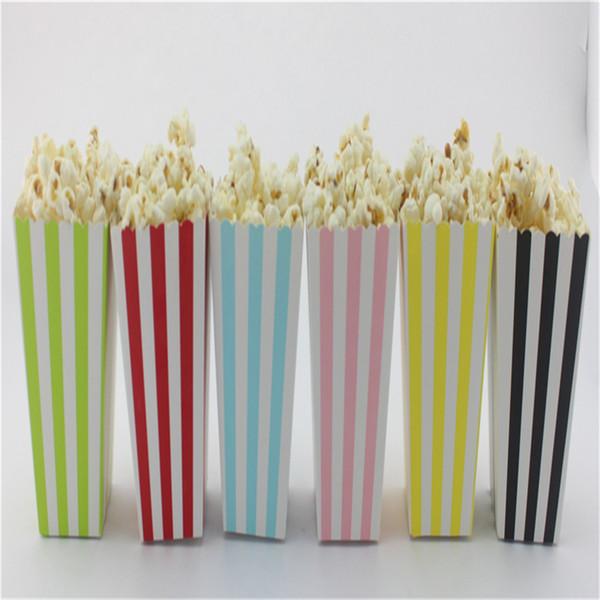 Prezzo economico all'ingrosso! Scatole di favore del popcorn degli alimenti a rapida preparazione della carta del partito di progettazione superiore di vendita, piccola scatola di carta isolata 1500pcs / lot