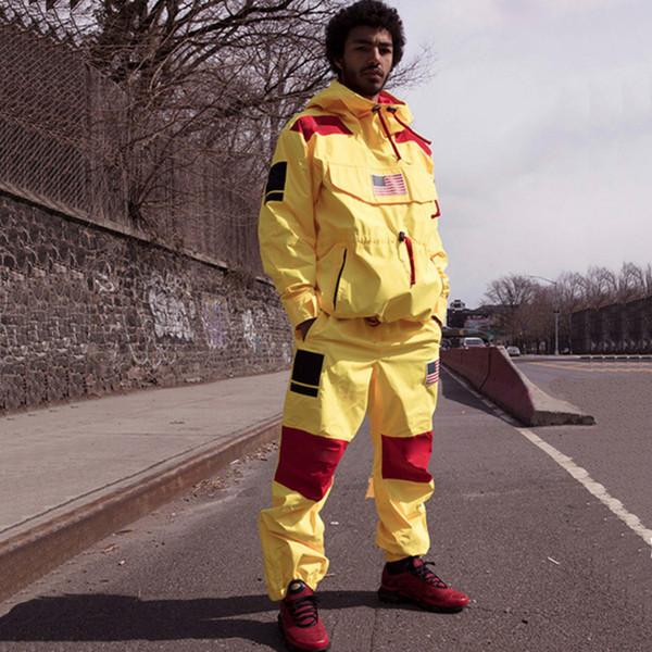 17SS Seferi Kazak Pantolon Erkek Kadın Mont Moda Bayrak Giyim Su Geçirmez Yüksek Kaliteli Pantolon Yüksek Sokak Pantolon S ~ XL HFWPKZ088