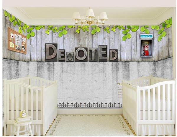 Custom photo wallpaper 3D European Brick template metal letters retro sofa backdrop 3d wallpaper 3d mural wallpaper 201510490