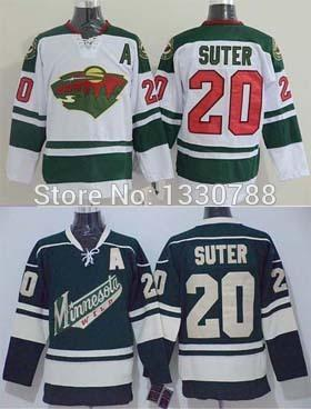 30 Teams-Wholesale Ryan Suter Wild Jersey Green Alternate White Away Premier Stitched Cheap Authentic 2015 Mens Minnesota Wild Hockey Jersey
