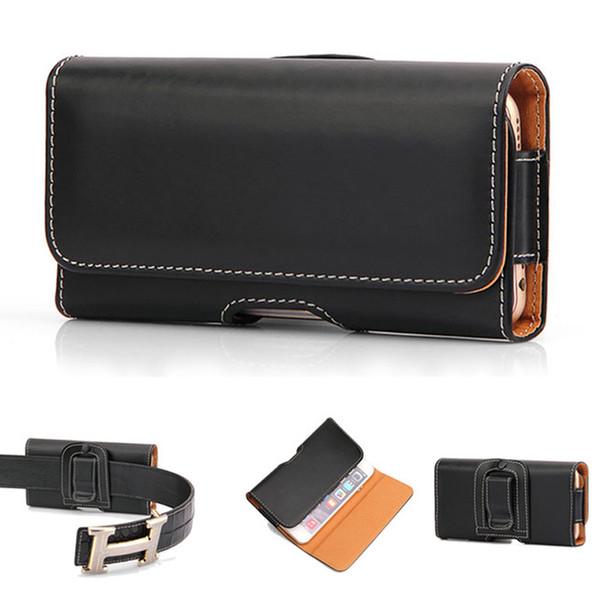 Cintura pendurar saco do telefone pu bolsa de couro holster belt clip capa para iphone7 7 plus s8 s7 s7edge dhl frete grátis sca362