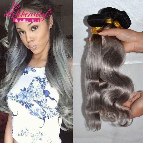 Lili Hair 7a Grade Ombre Hair Extensions 1b Grey Hair Weave