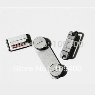 IPhone 5s Için toptan-3X Combo Yan Düğmeler Ses Tuşu + Güç Düğmesi + Sessiz Sessiz Düğme 3 adet / takım (Beyaz Siyah Altın)