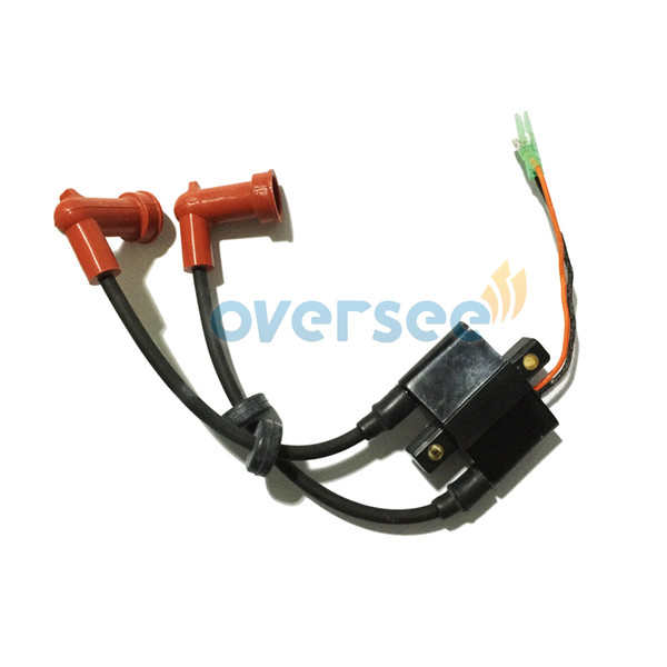 Oversee 6F6-85530-01-00 IGNITION COIL ASSY for Yamaha 40HP J old model Outboard Spare Engine Parts Modle