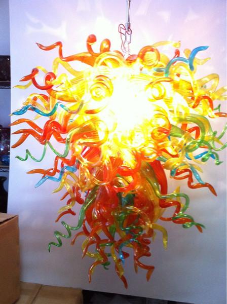 Led Source 100% Hand Blown Borosilicate Glass Dale Chihuly Murano Art Glass Pendant Fine Art Lighting
