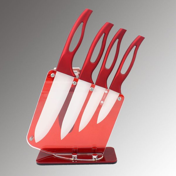 """Beauty Gifts Zirconia red handle Ceramic Knife with holder kitchen Set 3"""" 4"""" 5"""" 6"""" inch+ Peeler+Holder kitchen knife Kitchen Accessories"""