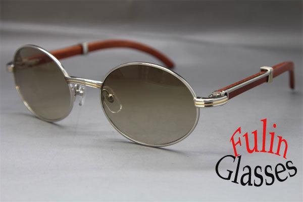 Wholesale-Hot Vintage Sonnenbrille Kostenloser Versand 7550178 Holz Sonnenbrillen Größe: 55-22-135 mm