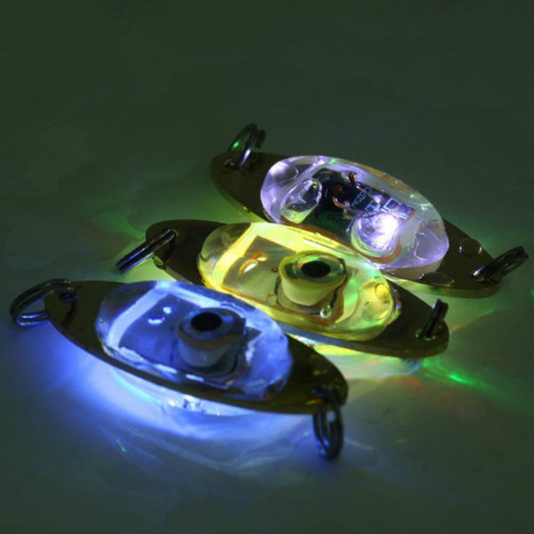 Free DHL Wholesale Flash Lamp LED Deep Drop Underwater Eye Shape Fishing Squid Lure Light free shipping