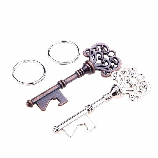 best selling New 2015 Bottle Openers Key Shape Bottle Opener Steel Bronze Keychain Bottle Opener Antique Retro Opener