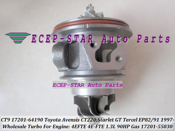 CT9 17201-64190 17201-55030 Turbo CHRA Cartridge For TOYOTA Starlet GT Tercel EP82 EP91 Avensis CT 220 1997- 4EFTE 4E-FTE 1.3L 90HP Fuel Gas