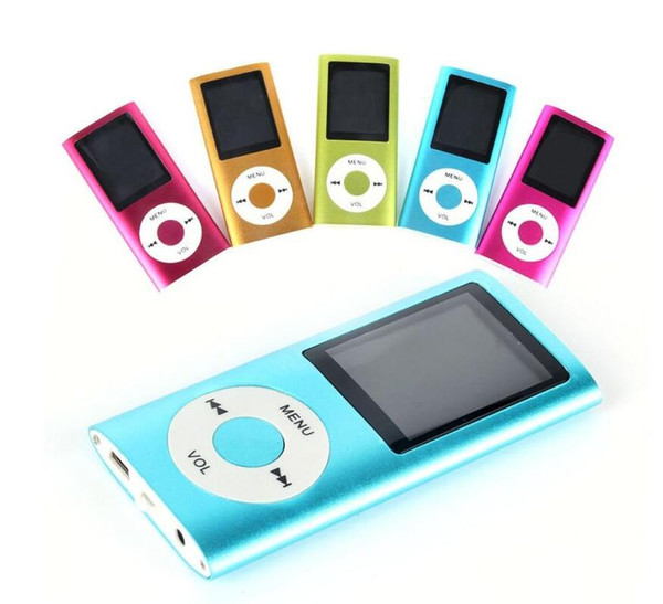 Cheapest mp3 100pcs+ Colorulf MP4 Player With FM Radio Video&Micro SD Card TF Card Slot+Speaker 4th LCD MP4 Player