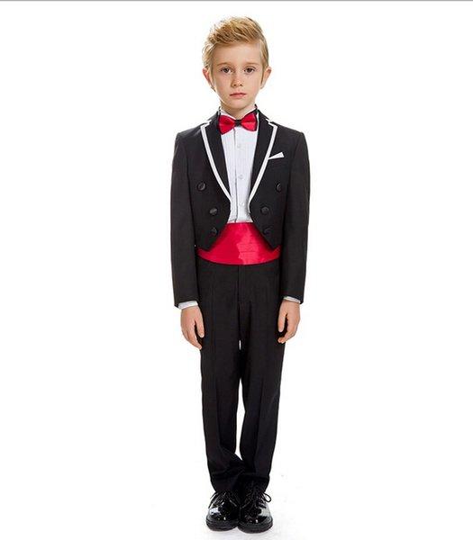 2018 children cuhk boy flower girl dress costumes tuxedo suits formal party small suit 2 pieces (jacket+pants+tie)