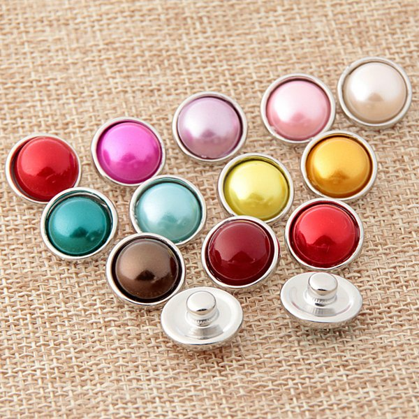 best selling NOOSA Chunk Amsterdam Vintage Candy Color 12mm Nosa Ginger Snap Button Interchangeable DIY Jewelry Accessory Clasps Hooks