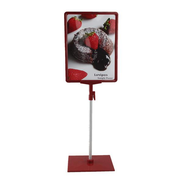 A4 frame with POP price ticket tag sign advertising clip Rack poster holder display showing stand on shelf desktop console mode