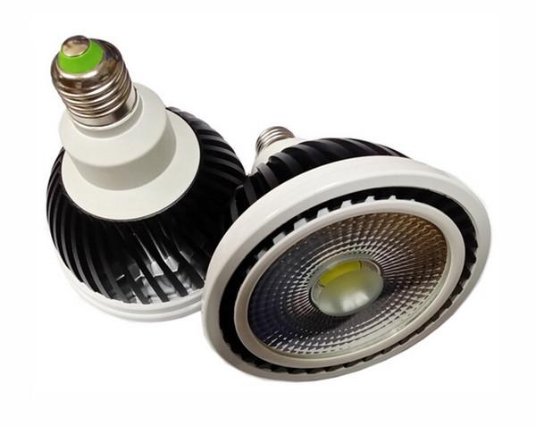 Regulable COB Bombilla led par30 15W E27 Cob bombilla led Lámpara de punto Luz cálida Frío Blanco Natural Blanco AC110V / AC230V / AC85-265V