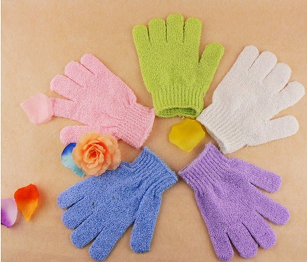 top popular Factory price Moisturizing Spa Skin Care Cloth Bath Glove Exfoliating Gloves Cloth Scrubber Face Body Free Shipping 2019