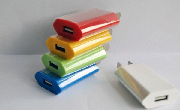 Renkli AB ABD DÜZ mini USB Duvar Adaptörü fiş Ev Seyahat Şarj güç 1A 5 V mobil smartphone için 4 s 5 s 5c android s3 s4 e puro MINI100