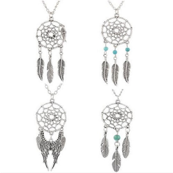 Al por mayor-Unique Design Retro Dream Catcher colgante Faddish Special Chain Necklace