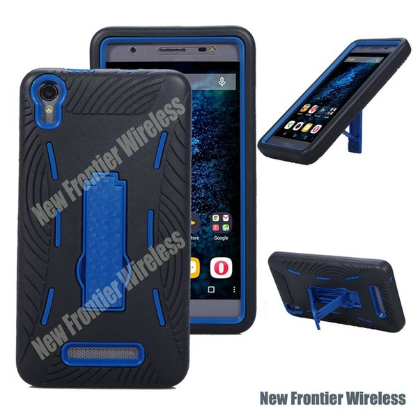 Free Shipping CELL PHONE CASE HEAVY DUTY Shockproof Kickstand Humanize TPU+PC For BLU Energy X Plus/E030U