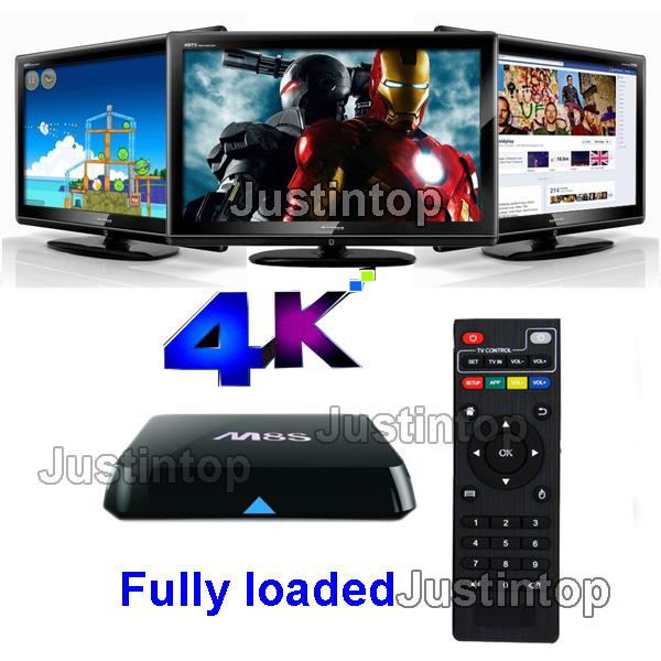 M8S M8 4K Free Streaming Android Smart TV Box Amlogic S812 Chip 2GB RAM 8GB ROM Full HD Kodi 16 Media Player G-BOX Q Set Top Sports Movies