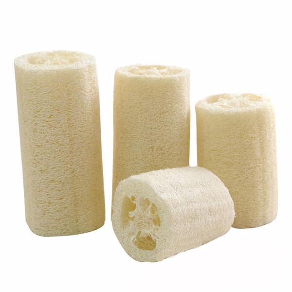 Natural Loofah Sponge Bath Peeling Brush Scrubber Skin Care Exfoliating Tan Shower Sponge Massage Puff Loofa Mesh Sponge Spa Cleaning SK480